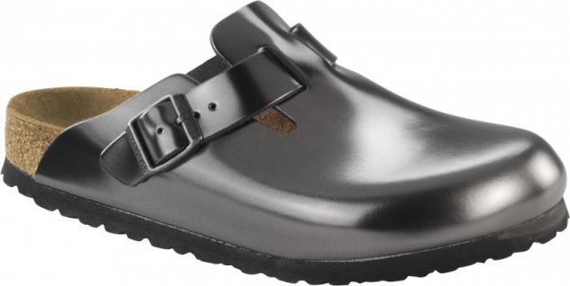Birkenstock Clog Boston NL WB Metallic Anthracite Gr. 35 - 43 - 1000683