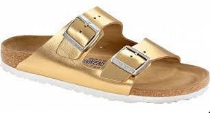 Birkenstock Pantolette Arizona liquid gold Leder Gr. 35 - 43 1000064 - Vorschau