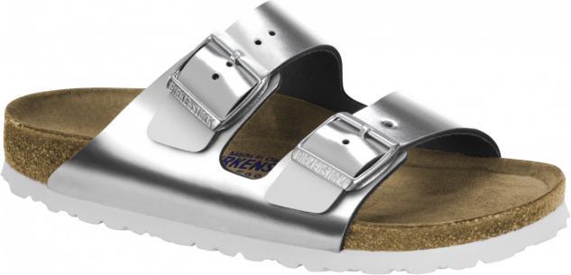 Birkenstock Pantolette Arizona NL SFB metallic silver Gr. 35 - 43 schmal 1005961 - Vorschau