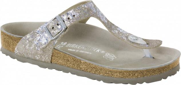 Birkenstock Zehensteg Sandale Gizeh NL spotted metallic silver Gr. 35 - 43 - 1006743 - Vorschau
