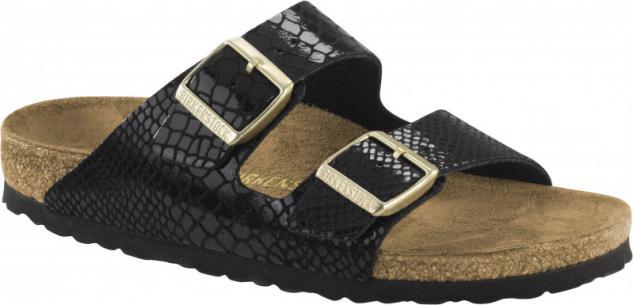 Birkenstock Pantolette Arizona BF Shiny Snake black Gr. 35 - 43 1000258 - Vorschau