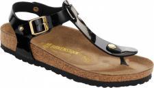 BIRKENSTOCK Zehensteg Sandale Kairo Studs BF schwarz Lack Gr. 35 - 43 - 147243