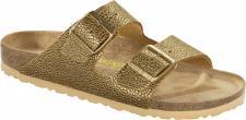 BIRKENSTOCK Pantolette Arizona pebbles metallic gold Gr. 35 - 43 - 652713