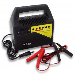 WilTec Batterieladegerät Ladegerät Akkuladegerät 6V/12V 6A CG-1106S