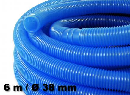 Schwimmbadschlauch blau Muffe Schwimmsaugschlauch für Pool 38mm 6m