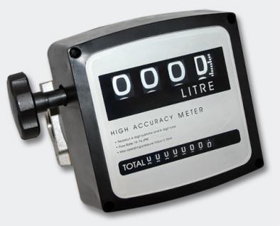 """Diesel Heizöl Zähler 3 bar 0-120l/min Anschlüsse 1"""" Heizölpumpe"""