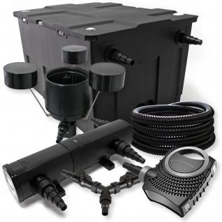 SunSun FilterSet 60000l mit 18W UVC, 70W ECO Pumpe 25m Schlauch Skimmer