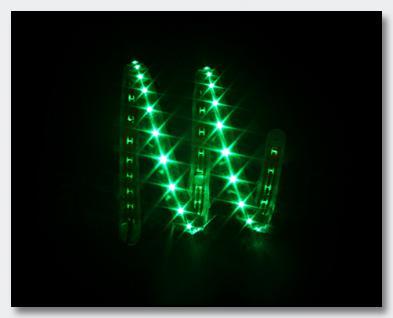 Slim-Light, 69cm, 45 LEDs, 12VDC, grün flexible Silikonumhüllung