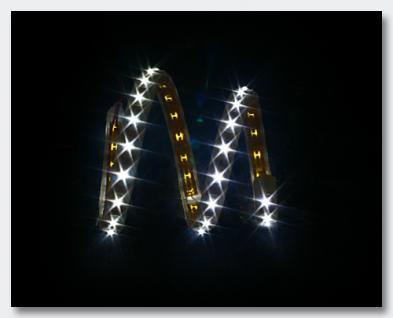 Slim-Light, 40cm, 15 LEDs, 12VDC, weiss- flexible Silikonumhüllung