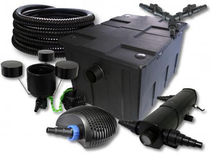 SunSun FilterSet 60000l mit 36W UVC, 70W ECO Pumpe 25m Schlauch Skimmer