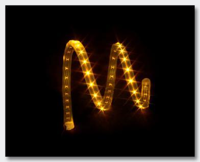 Slim-Light, 69cm, 45 LEDs, 12VDC, amber- flexible Silikonumhüllung