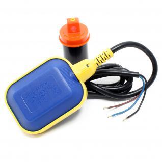 PVC-Schwimmerschalter Wechselschalter Pegelschalter Kabel: 2m 250V 16A