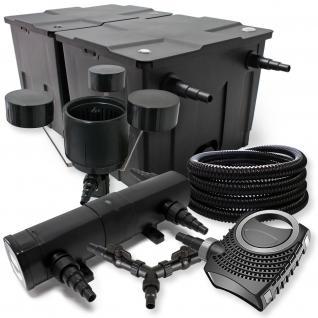 SunSun FilterSet 60000l mit 18W UVC, 80W ECO Pumpe 25m Schlauch Skimmer