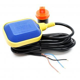 PVC-Schwimmerschalter Wechselschalter Pegelschalter Kabel:10m 250V 16A