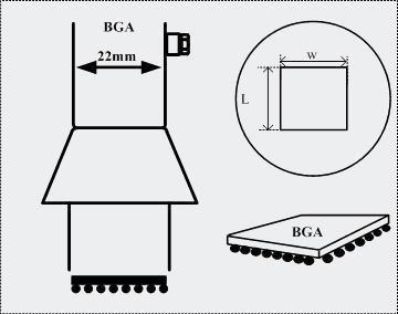 AOYUE [1919] Heißluftdüse BGA 18x18 Heißluftstation / Lötstation