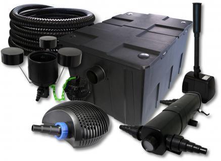 SunSun Filter 60000l 36W UVC, 40W Pumpe Schlauch Skimmer Springbrunnen