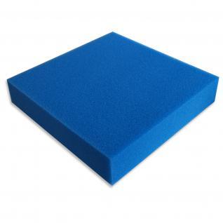 Schaumstoffmatte 100x100x10cm 30ppi fein blau Teich-/Aquarienfilter