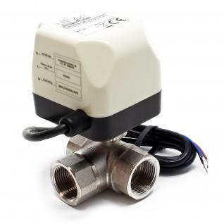 "3-Wege Motor-Zonenventil Umschalt- Kugelventil 220VAC DN20 20mm (3/4"")"