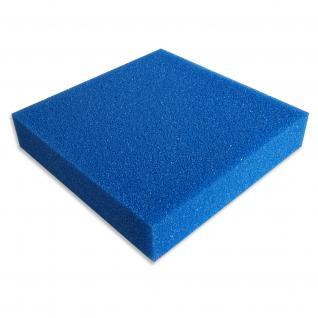 Schaumstoffmatte 100x100x10cm 10ppi grob blau Teich-/Aquarienfilter