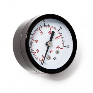 """Druckanzeige Druckbehälter/ Manometer axial DN8 (1/4"""") 12.9mm 0-10bar"""