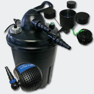 Druckfilter Set 15000l 24W UVC Wasserklärer Teichpumpe Skimmer