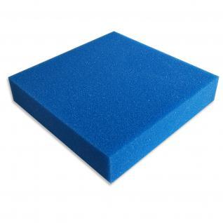 Schaumstoffmatte 100x100x10cm 20ppi mittel blau Teich-/Aquarienfilter