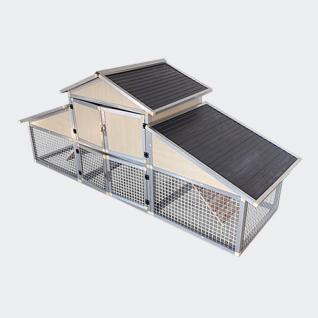 Aluminium Hühnerstall Kleintierhaus Nistkasten Freilauf Gehege