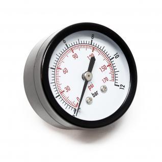 """Druckanzeige Druckbehälter/ Manometer axial DN8 (1/4"""") 12.9mm 0-12bar"""