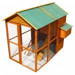 Hühnerhaus großem Freilauf Hühnerhaus Holz Bitumendach