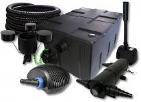 SunSun Filter 60000l 18W UVC, 40W Pumpe Schlauch Skimmer Springbrunnen