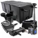 Set 90000l 18W UV Pond Clarifier Pump NEO7000 50W Hose Fountain Skimmer