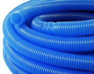 Schwimmbadschlauch blau Muffe Schwimmsaugschlauch für Pool 38mm 1, 50m