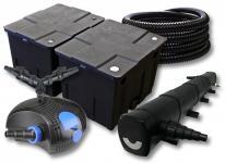 SunSun FilterSet 60000l Teich mit 72W Teichklärer, 100W Pumpe Schlauch