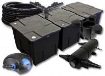 SunSun FilterSet 90000l Teich 18W Klärer, 100W Pumpe Schlauch Skimmer