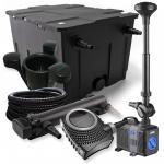 1-Kammer Set 60000l 36W UV Klärer NEO10000 80W Pumpe Schlauch Springbr