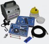 Profi Airbrush Kompressor Set mit 2 Airbrushpistolen AS176