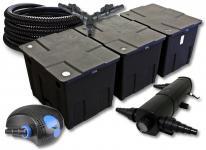 SunSun FilterSet 90000l Teich mit 18W Teichklärer, 100W Pumpe Schlauch