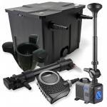 1-Kammer Filter Set 12000l 36W UV Klärer NEO10000 80W Pumpe Springbrunnen Skimmer
