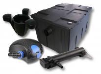 1-Kammer FilterSet 60000l, 36W UVC 3er-Klärer CTF-10000 Pumpe Skimmer