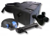 1-Kammer FilterSet 60000l 36W UV 3er-Klärer CTF-Pumpe Schlauch Skimmer