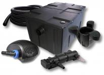 1-Kammer FilterSet 60000l 24W UV 6er-Klärer CTF-Pumpe Schlauch Skimmer