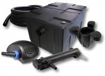 1-Kammer FilterSet 60000l 24W UV 3er-Klärer CTF-Pumpe Schlauch Skimmer