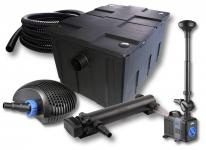 1-Kammer FilterSet 60000l 24W UV Klärer Pumpe Schlauch Springbrunnen