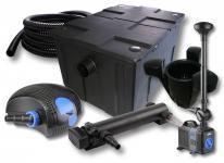 1-Kammer Set 60000l 36W UV Klärer Pumpe Schlauch Springbrunnen Skimmer