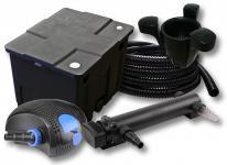 1-Kammer FilterSet 12000l 36W UV 3er-Klärer CTF-Pumpe Schlauch Skimmer