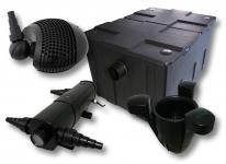 Set Filter 60000l 24W UVC Klärer 155W Pumpe Skimmer SK40
