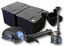 2-Kammer FilterSet 60000l 36W UV Klärer Pumpe Springbrunnen Skimmer