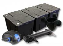 3-Kammer FilterSet 90000l, 36W UVC 3er-Klärer CTF-10000 Pumpe Skimmer