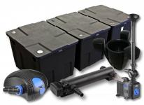 3-Kammer FilterSet 90000l 36W UV Klärer Pumpe Springbrunnen Skimmer