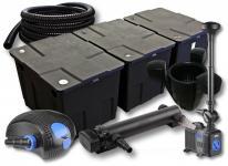 3-Kammer Set 90000l 36W UV Klärer Pumpe Schlauch Springbrunnen Skimmer